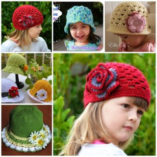 Wonderful DIY Pretty Crochet  Girls Hats