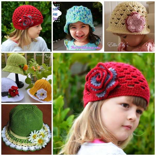 crochet hat F Wonderful DIY Pretty Crochet  Girls Hats
