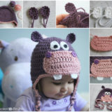 Wonderful DIY Happy Crochet Hippo Hat