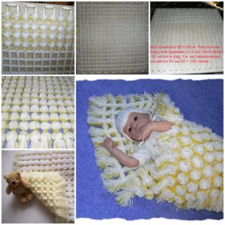 Wonderful DIY Cozy Baby Pom Pom Blanket