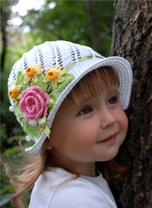 Gorgeous Crochet Hat For Little Princesses Free Pattern