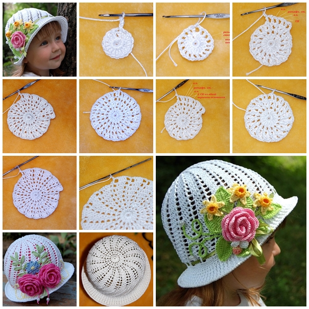 diy crochet pretty panama hat for girls F31 Gorgeous Crochet Hat for Little Princesses   Free Pattern and Guide