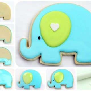Wonderful DIY Sweet Elephant Decorated Cookies