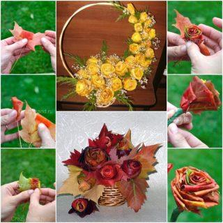 Wonderful DIY Beautiful Maple Leaf Rose