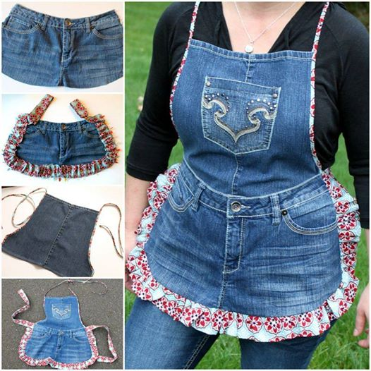 farm girl apron from old jeans F2 Wonderful DIY Farm Girl Apron from Old Jeans