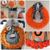 Wonderful DIY Felt Flower Wreath For Halloween