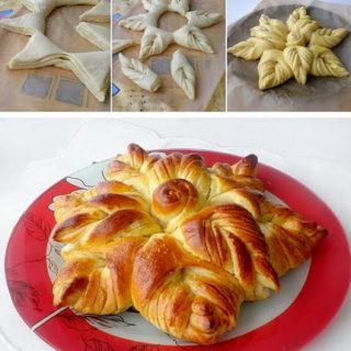 Wonderful DIY Beautiful Flower Shaped Bread