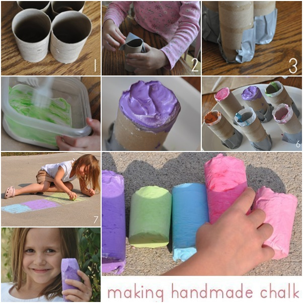 handmade chalk f Wonderful DIY Handmade Sidewalk Chalk
