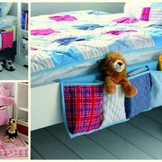 Wonderful DIY Useful Hanging Bedside Organizer