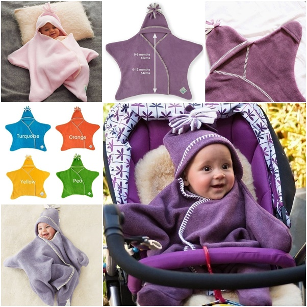 Make Your Own Shining Star Fleece Baby Wrap