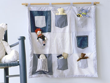 jeans pocket organizer 1 Wonderful DIY Hanging Jeans Pocket Organizer