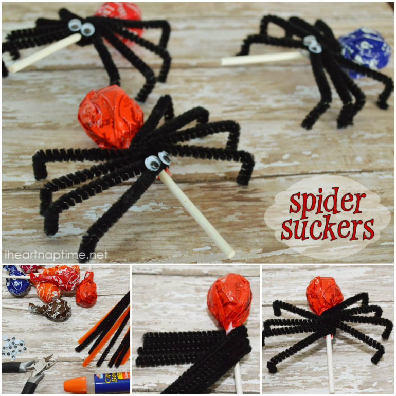 lollipos Spider Suckers  Wonderful DIY Halloween Lollipops  Spider Suckers
