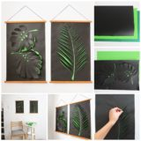 Wonderful DIY Paper Leaf Wall Art Decoration