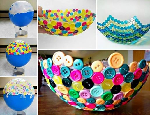pretty button bowl