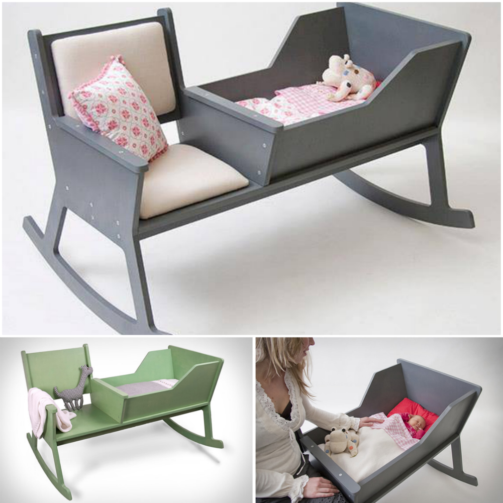 rocking chair with a crib DIY f