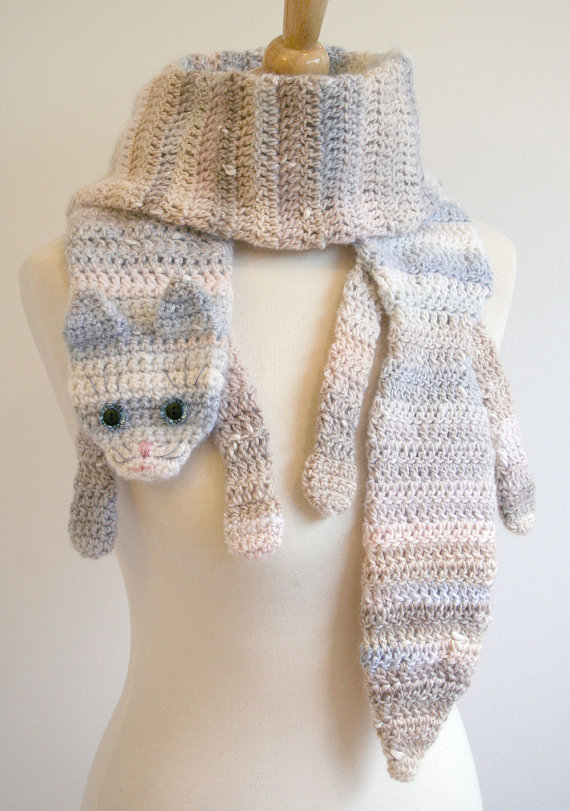 stole6 Wonderful DIY Cute Crochet Animal Scarves