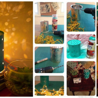Wonderful DIY Fantastic Lamp From Tin Cans