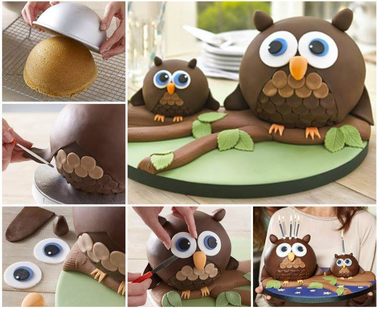 Adorable Owl Cake DIY Wonderful DIY Super Cute  Owl Cake