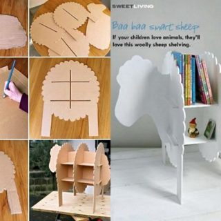 Wonderful DIY Smart Sheep Bookshelf For Kids