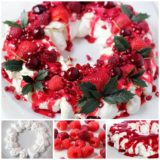 Wonderful DIY Tasty Berry Christmas Pavlova Wreath