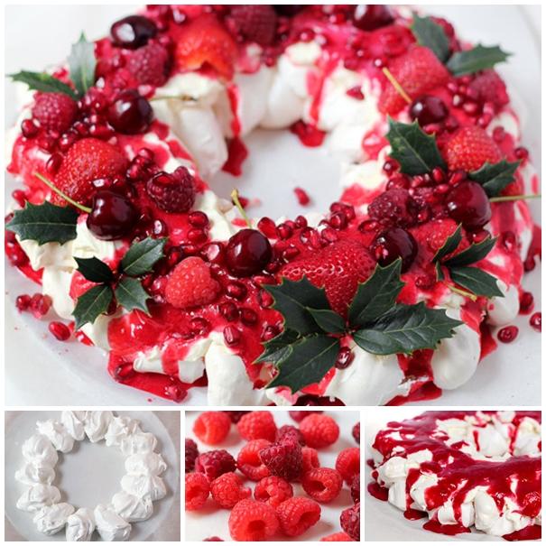 Berry Christmas Pavlova F Wonderful DIY Tasty Berry Christmas Pavlova Wreath
