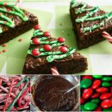 Wonderful DIY Edible Christmas Tree With Brownie
