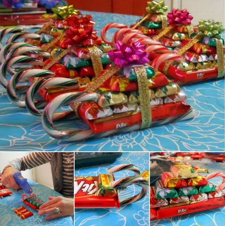 Chocolate Candy Cane Santa Sleighs Wonderful DIY Christmas Candy Cane Sleigh