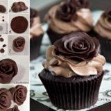 Wonderful DIY Chocolate Rose cake Topper