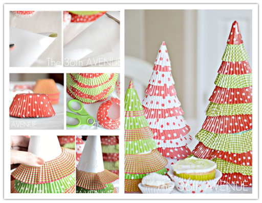 Christmas-Trees-With-Cupcake-Liners DIY