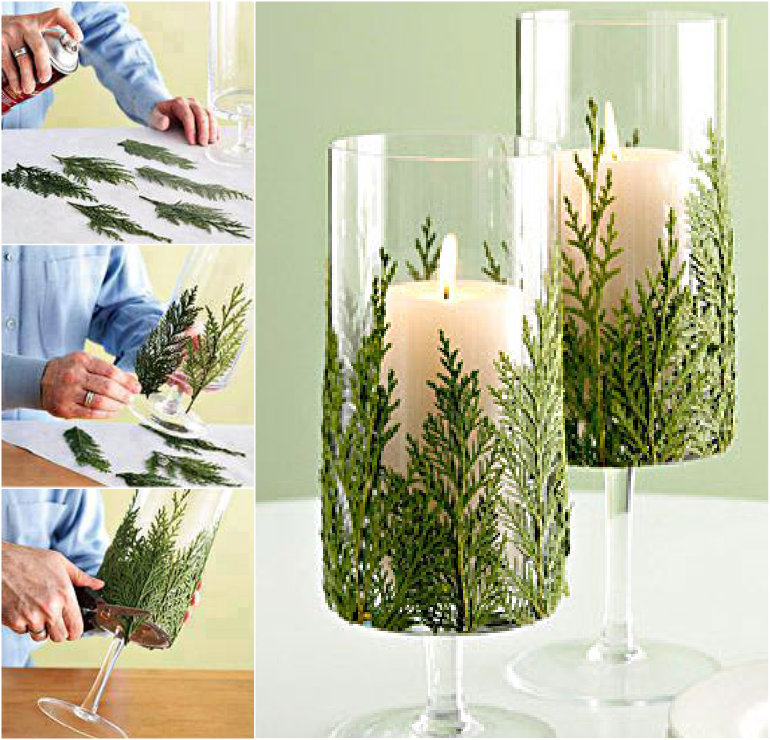Christmas pine leaf Candles DIY Wonderful DIY Christmas Candles With Pine leaf & Cinnamon Stick