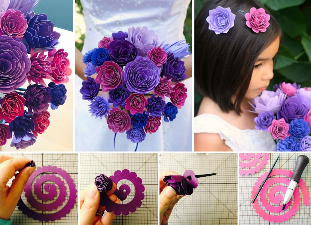 Wonderful diy gorgeous paper flower bouquet for wedding view in gallery colored paper flower bouquet mightylinksfo
