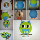 Wonderful DIY Cute Hanging Owl Notebook From CD