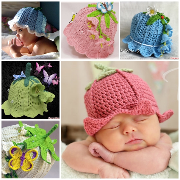 Crochet Bluebell Hats F Wonderful DIY Adorable Crochet Baby Bluebell Hat