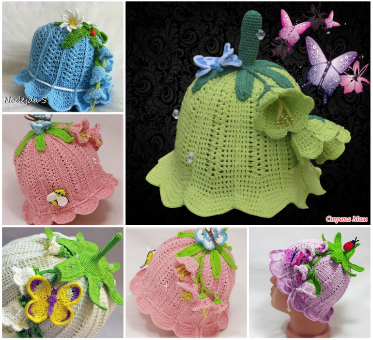 Crochet Bluebell Hats Wonderful DIY Adorable Crochet Baby Bluebell Hat