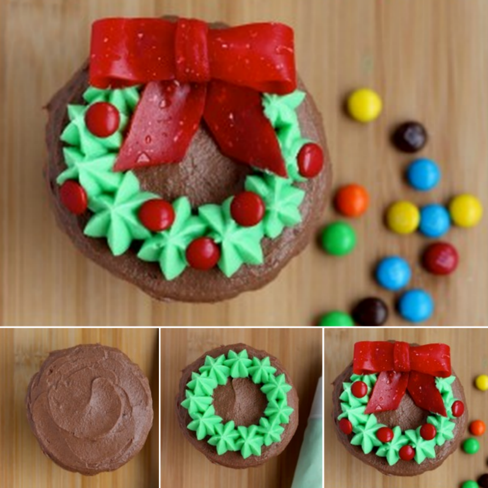 Cupcake Christmas Wreaths Wonderful DIY  Christmas Wreath Cupcake
