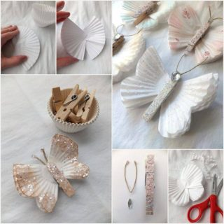 Wonderful DIY Cute Cupcake Liner Butterfly