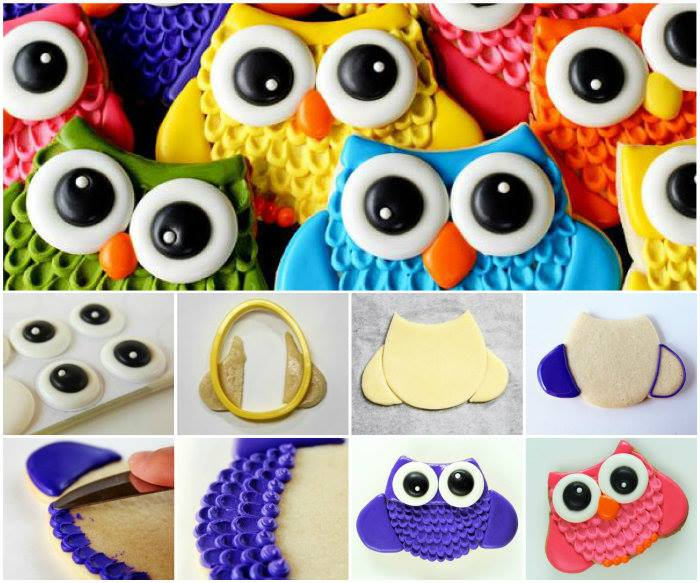 Image of: Whet Owl Wonderful Diy Wonderful Diy Cute Owl Cookies With Big Eyes