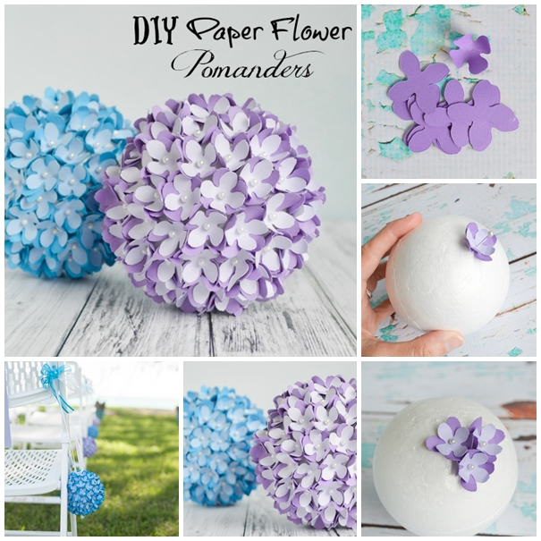 Wonderful diy pretty wedding pomanderkissing ball mightylinksfo