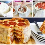 Wonderful DIY Delicious Pepperoni Pizza Cake