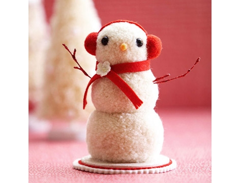 DIY PomPom Snowman 2 Wonderful DIY Cute Pom pom Ladybug