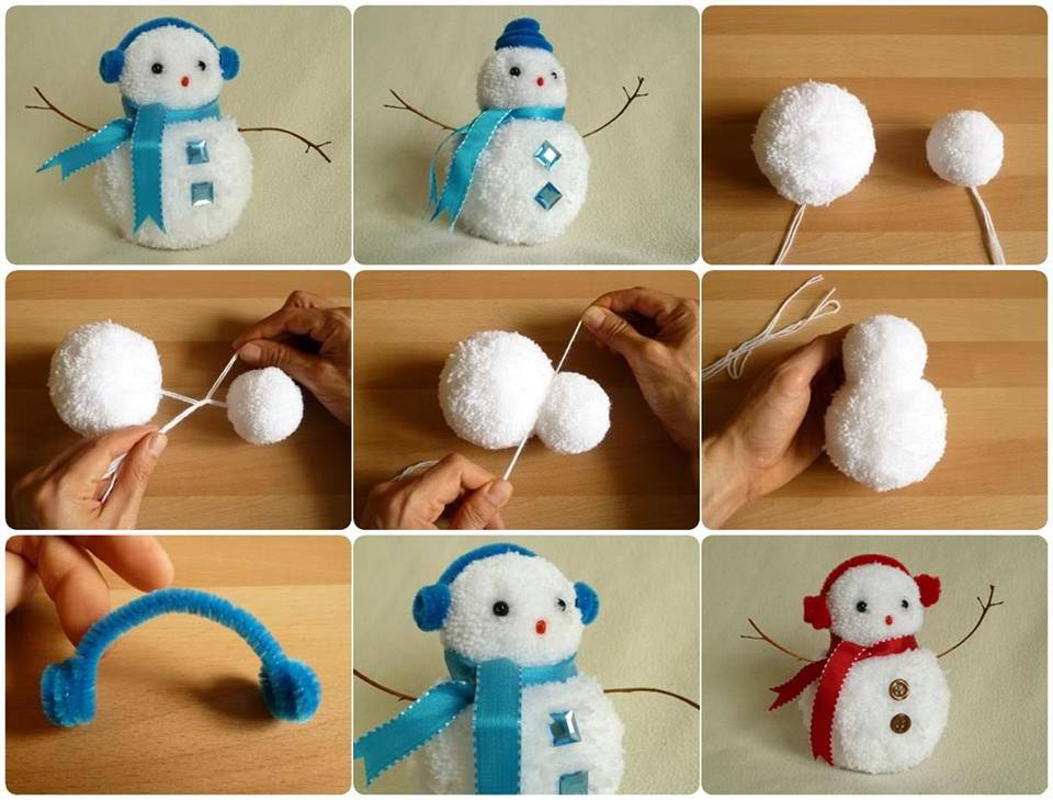 Wonderful Diy Creative String Snowman With Balloon