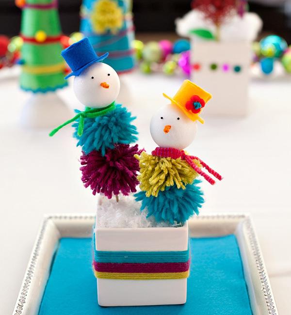 DIY PomPom Snowman3