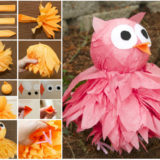 Wonderful DIY Cute  Pom Pom Owls with Tissue Paper