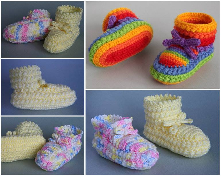 Daisy Stitch Booties free pattern Wonderful DIY Crochet Daisy Stitch Baby Booties with Free Pattern