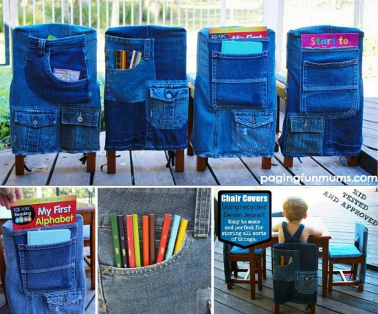 Denim-jeans Chair-Covers-wonderfuldiy