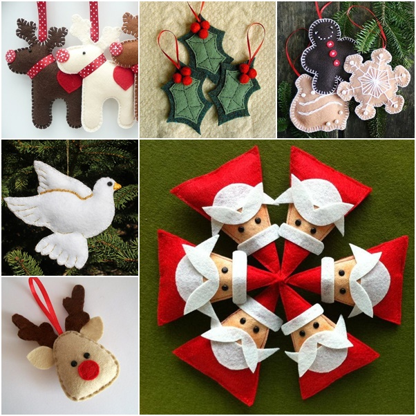 picture regarding Free Printable Christmas Ornament Templates called 30+ Magnificent Do-it-yourself Felt Ornaments For Xmas