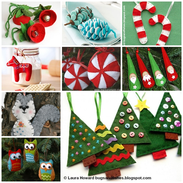 VIEW IN GALLERY Felt Ornament DIY F2 30+ Wonderful DIY Felt Ornaments For Christmas
