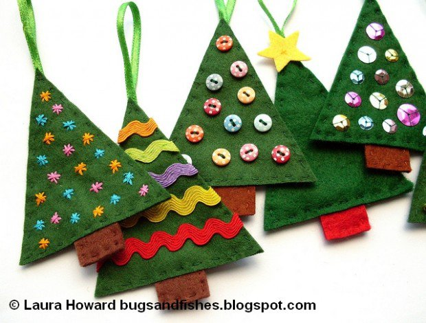VIEW IN GALLERY Felt Ornament DIY16