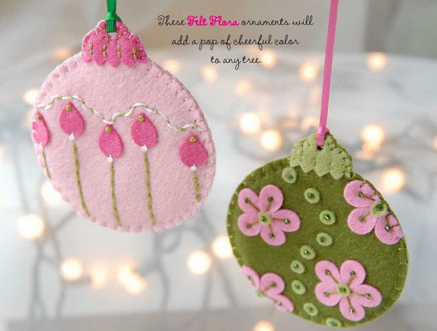 VIEW IN GALLERY Felt Ornament DIY19