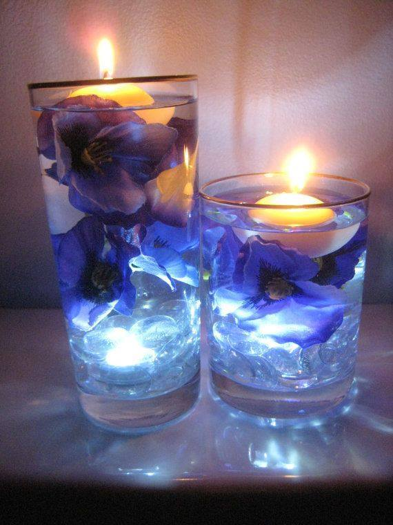 Floating Candle Centerpiece With Flower10